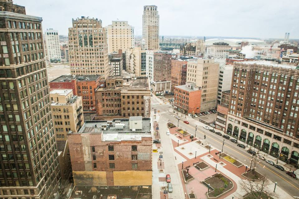 Downtown Detroit from Westin Hotel