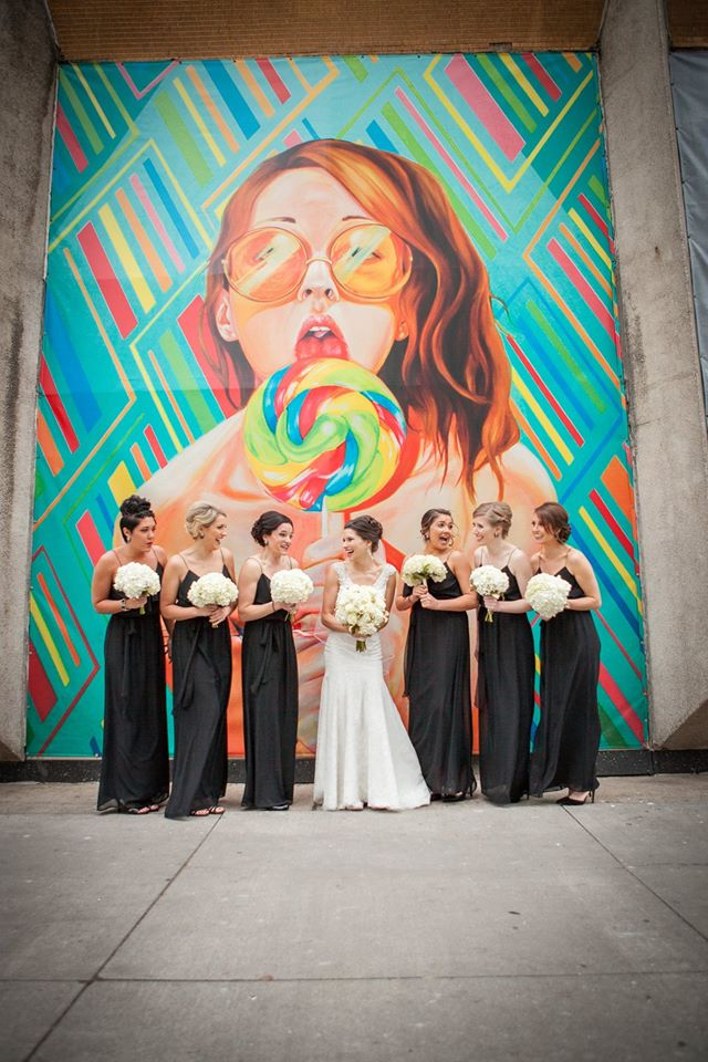 Funny Bride and Bridesmaid photo