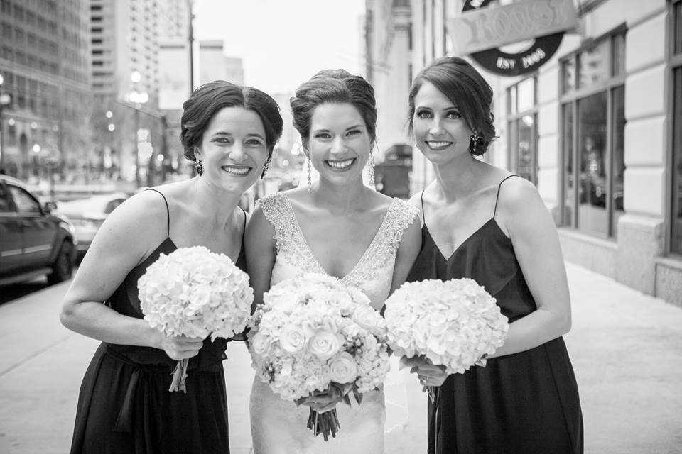 bride and maids of honor photo