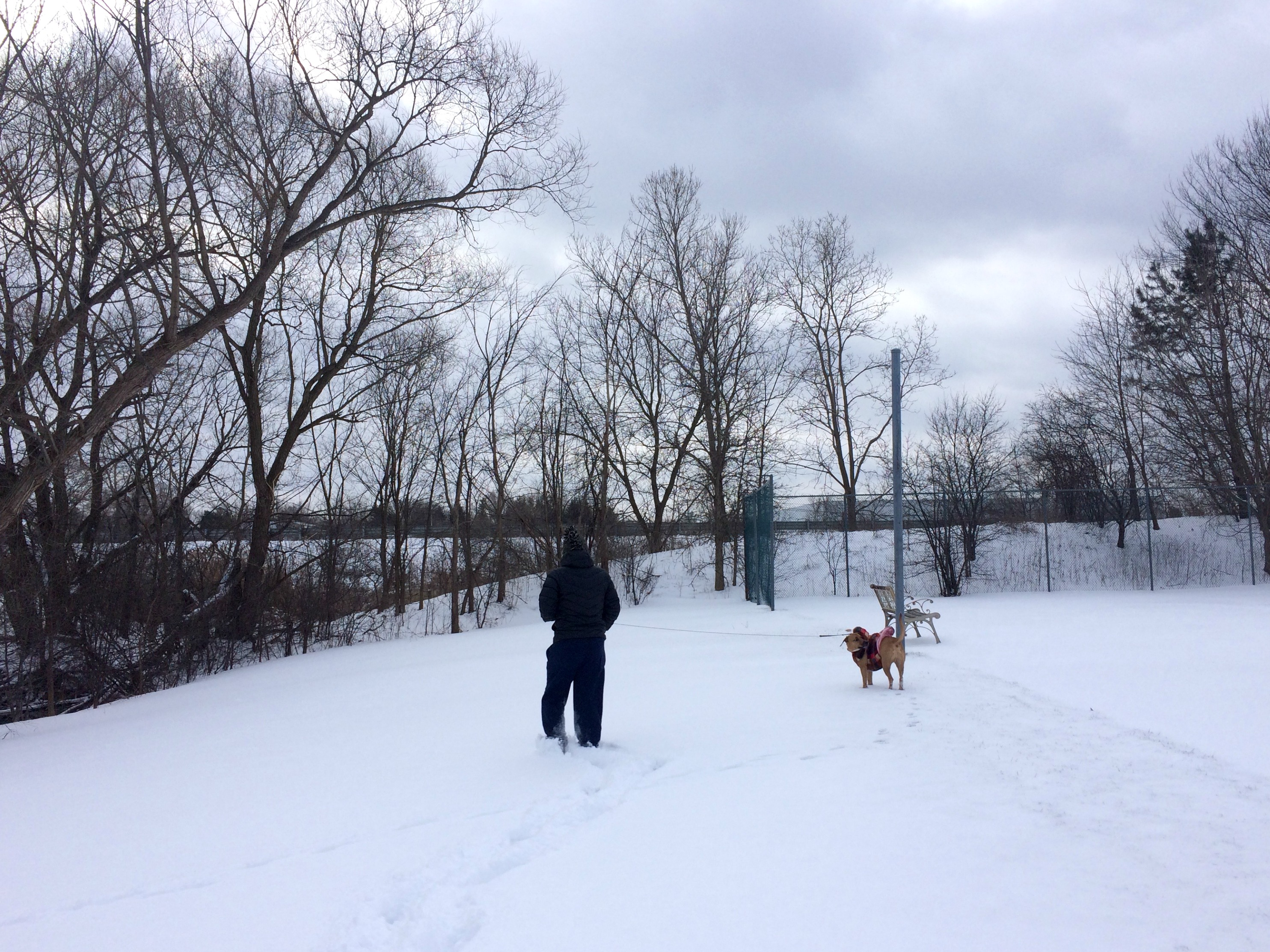 Scott and Roadie in the snow