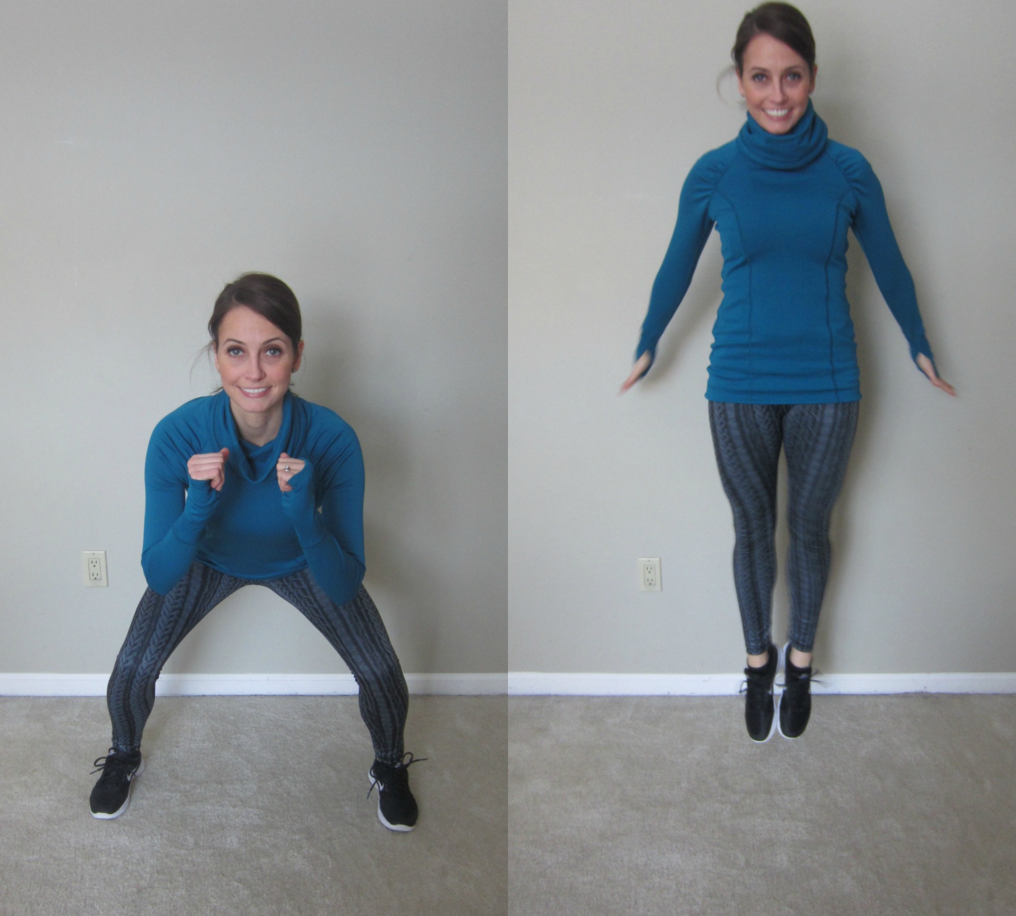 Squat Jump With Heel Clicks Exercise