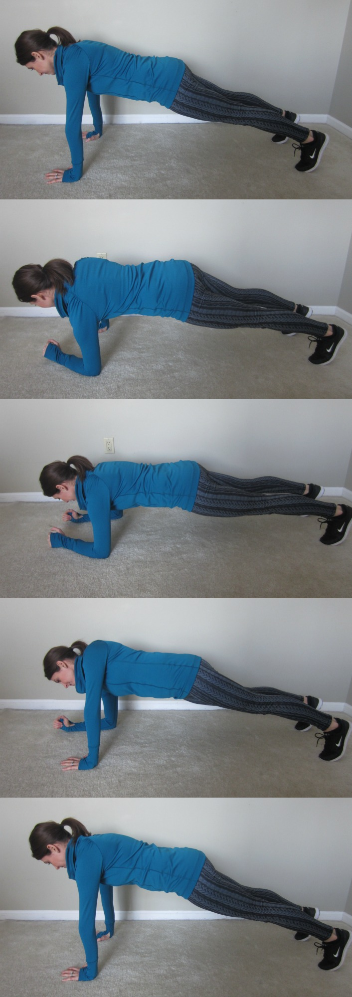 Up-Down Plank Exercise