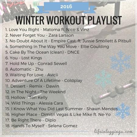 Winter 2016 Workout Playlist