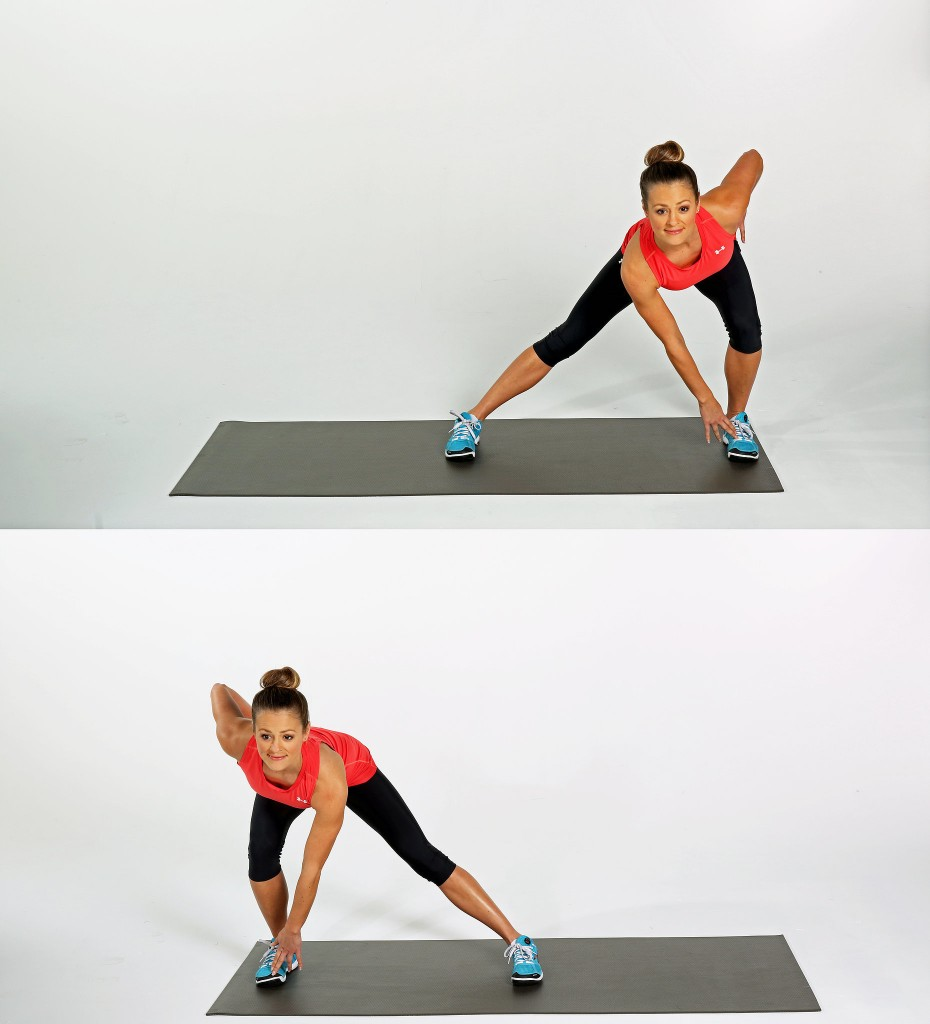 alternating lateral lunge reaches