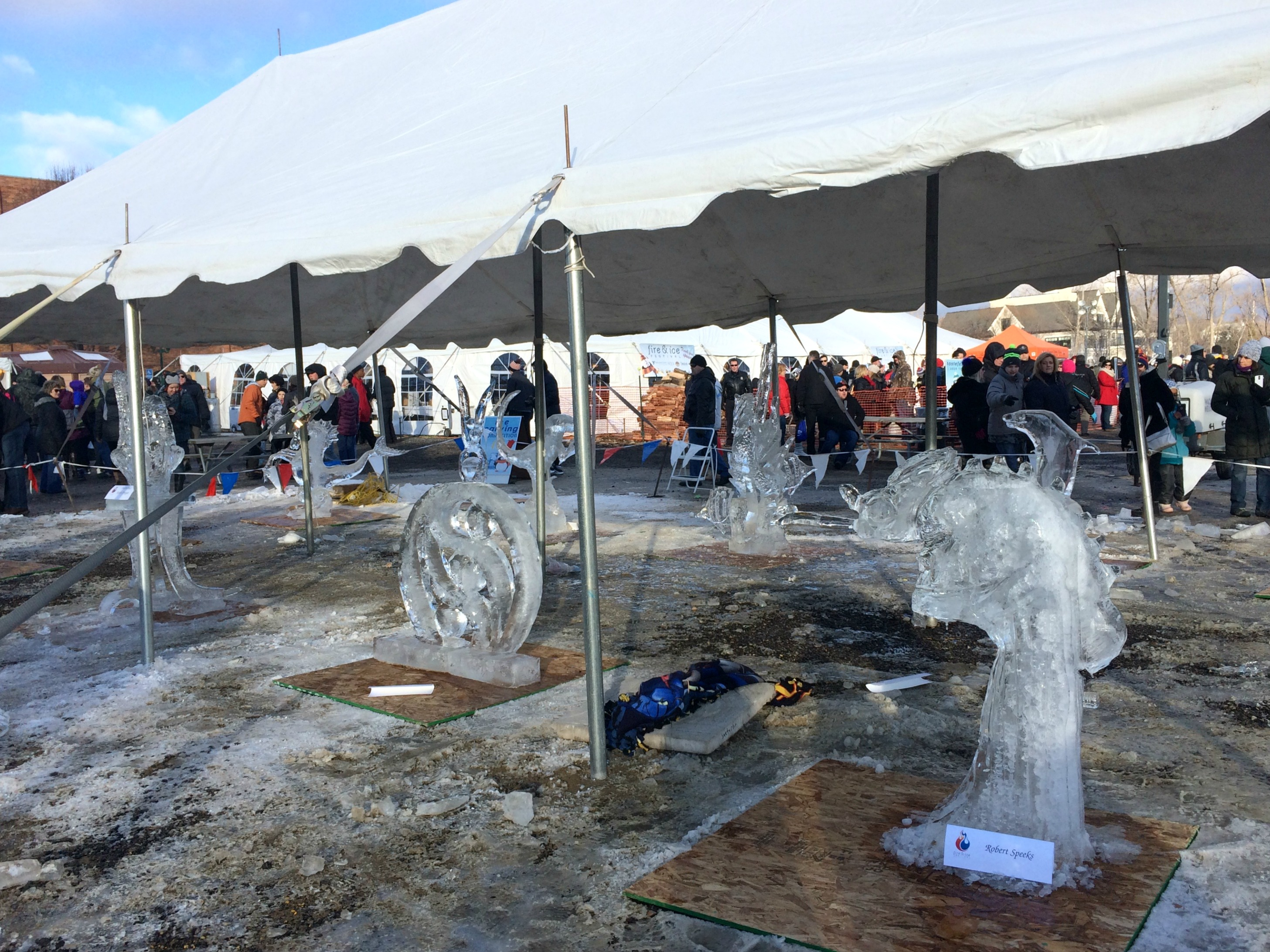fire & ice festival ice sculptures