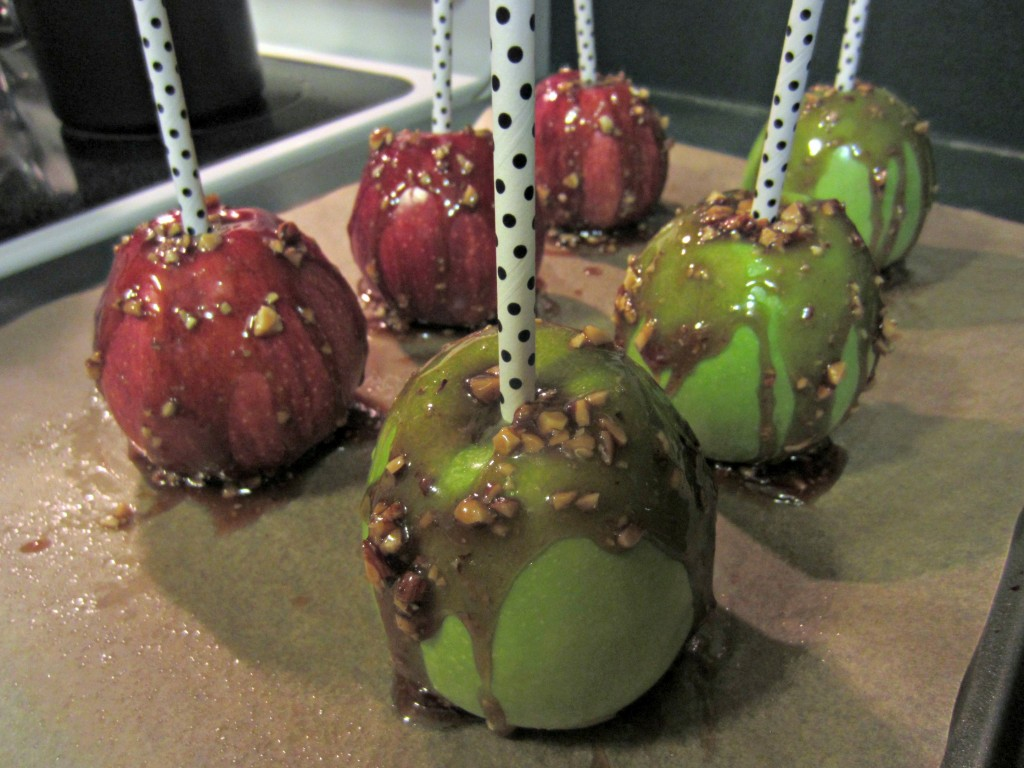 lightened up caramel apples