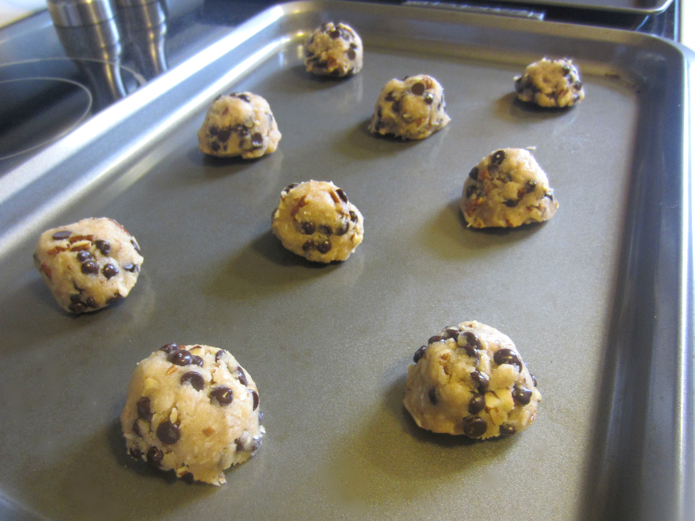 making vegan chocolate chip cookies