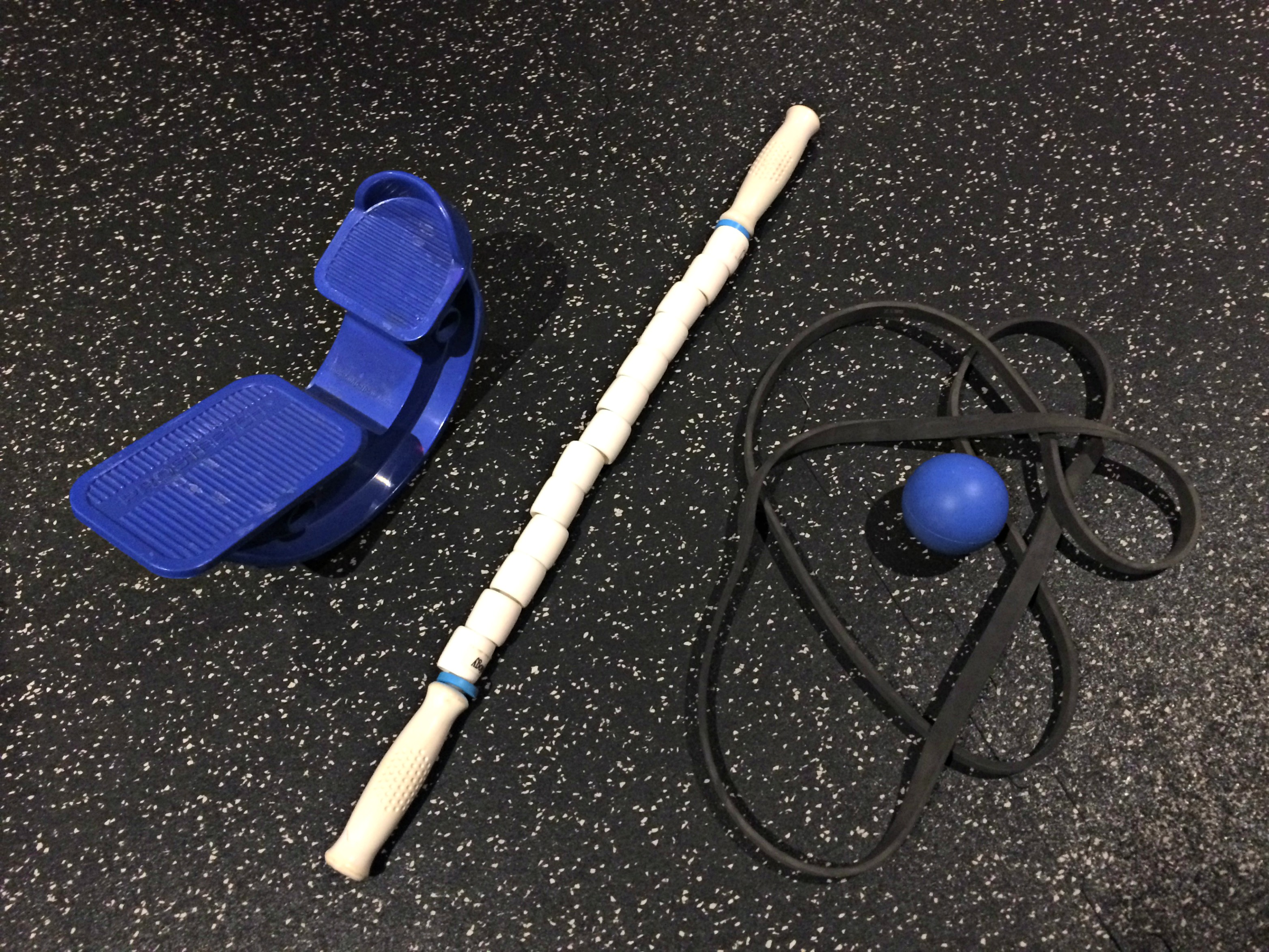 self-massage and stretching tools