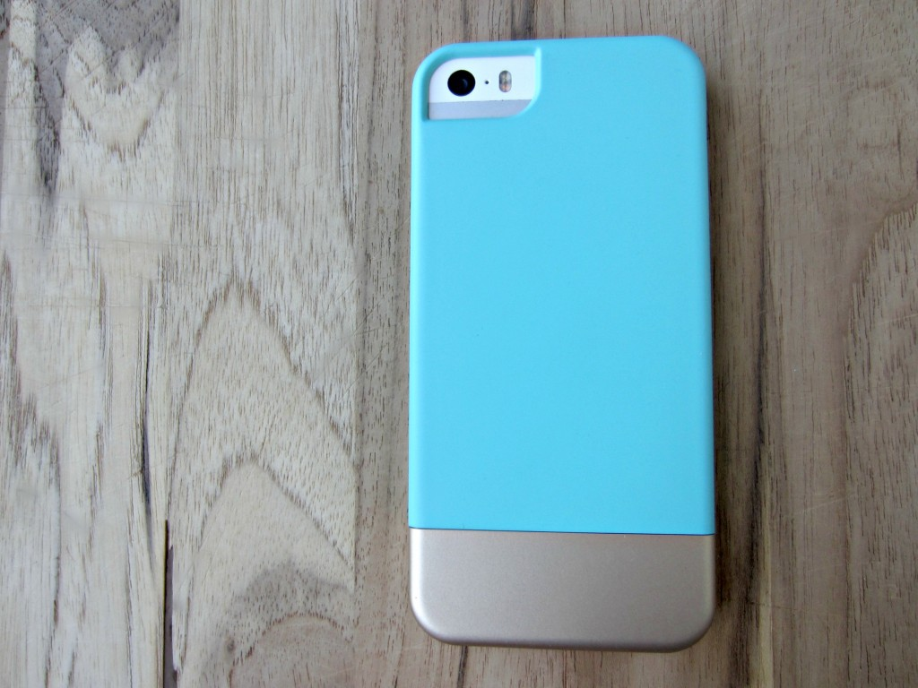 turquoise and champagne iphone case