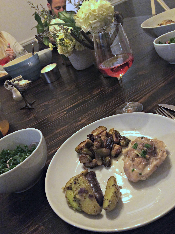 Coq Au Vin dinner