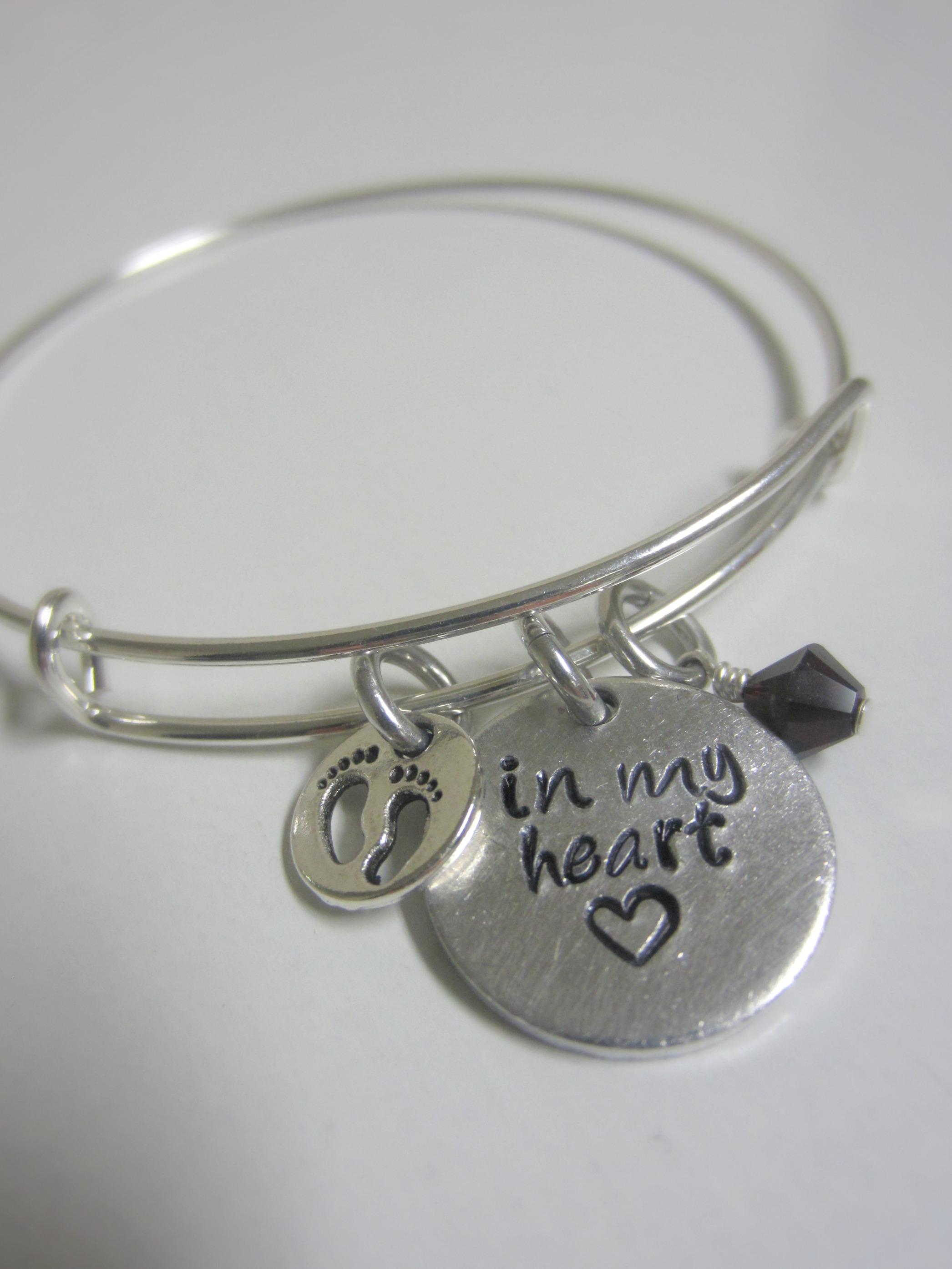 coping with miscarriage - in my heart bracelet