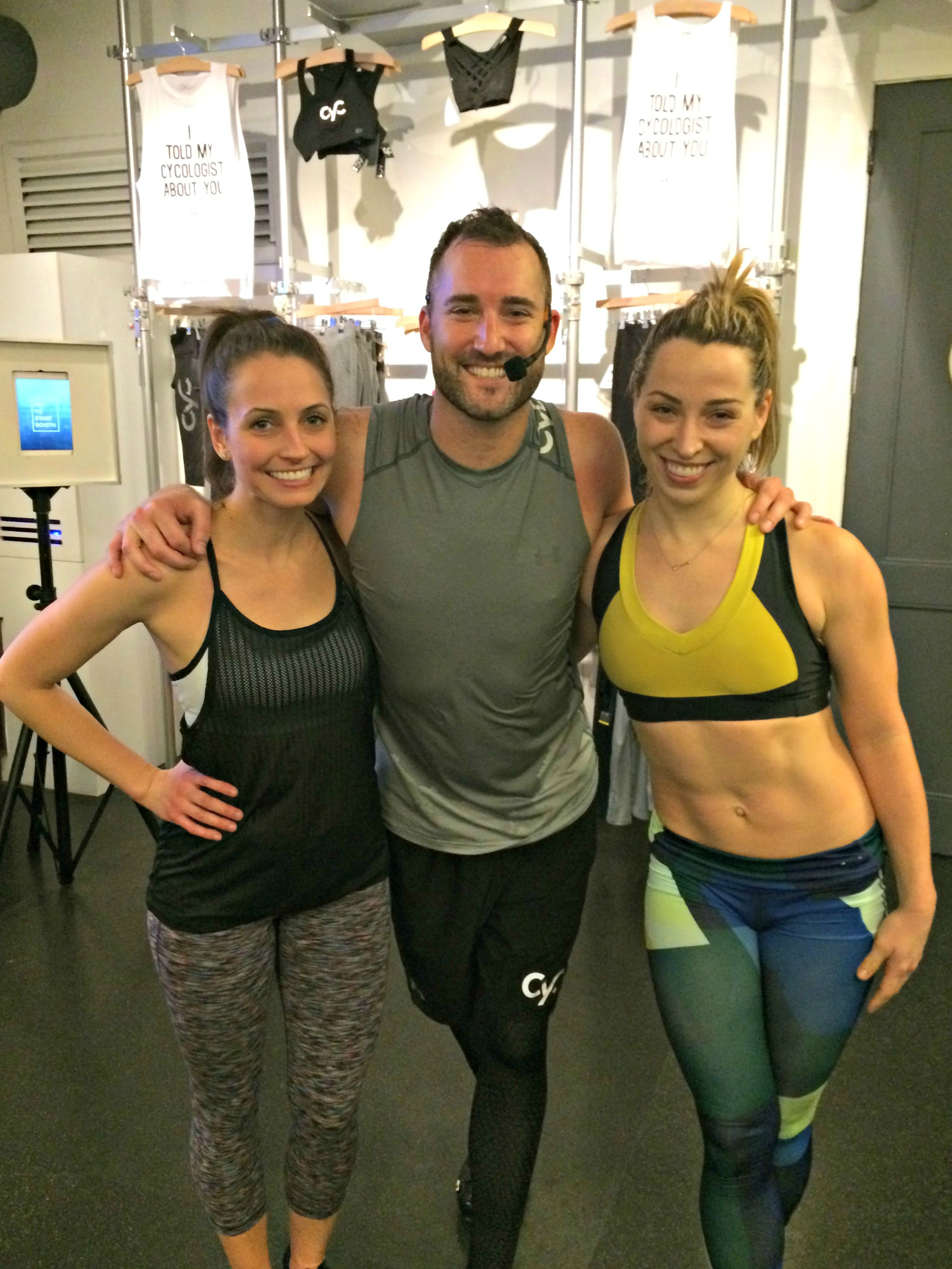 cyc fitness class with lauren and eric