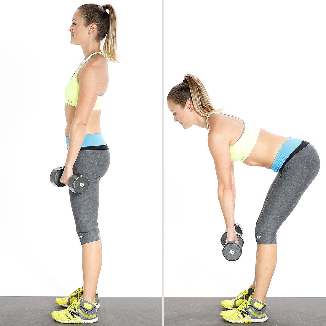 dumbbell dead lift exercise