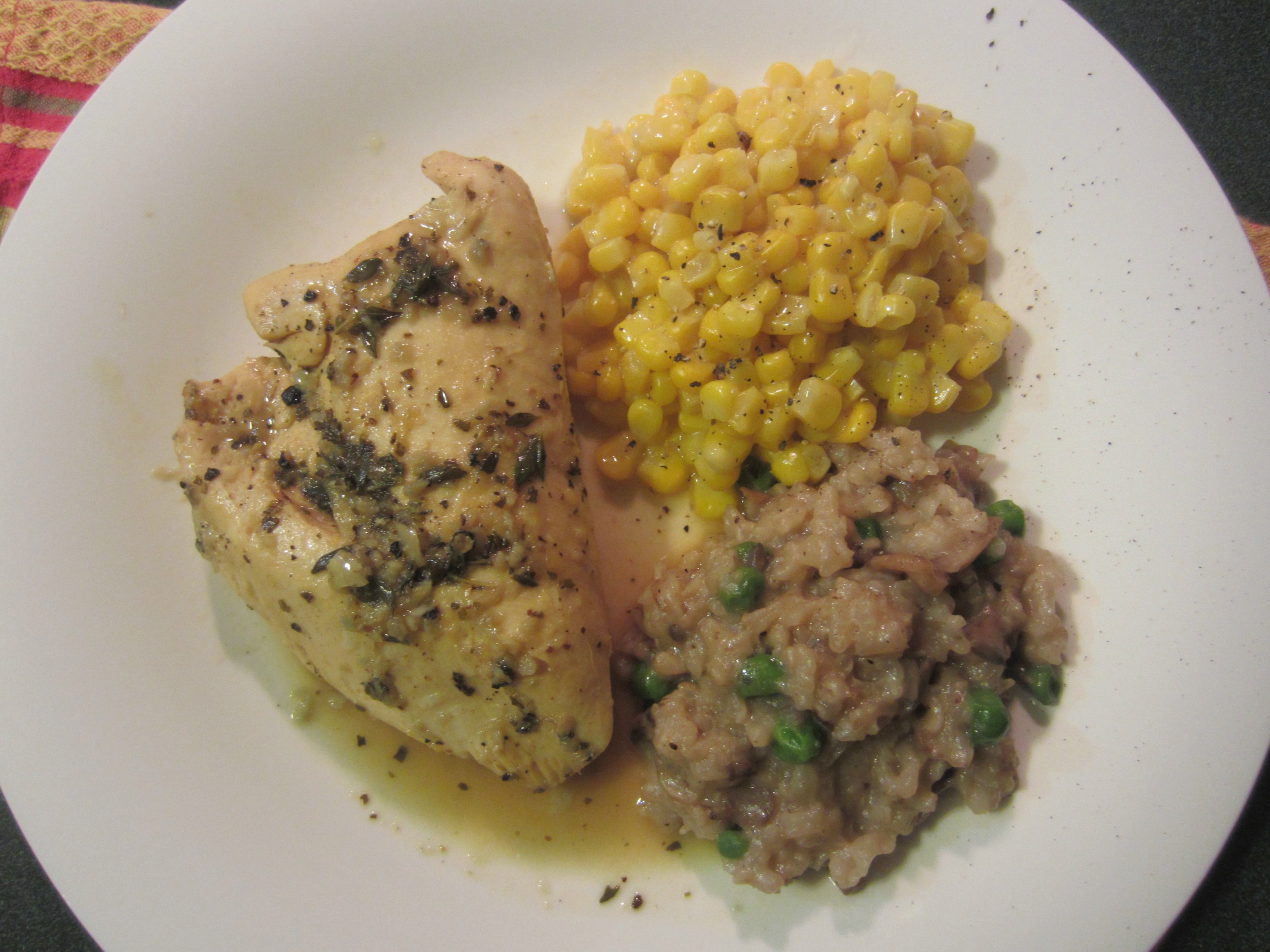 lemon and thyme chicken breast dinner