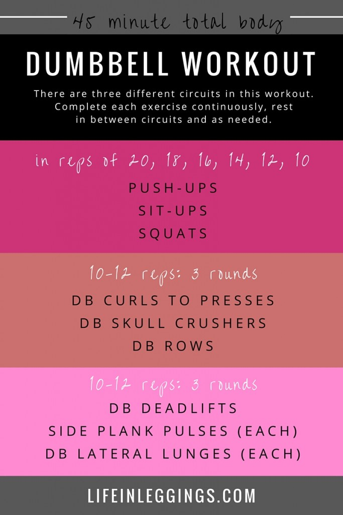 45 minute total body dumbbell workout