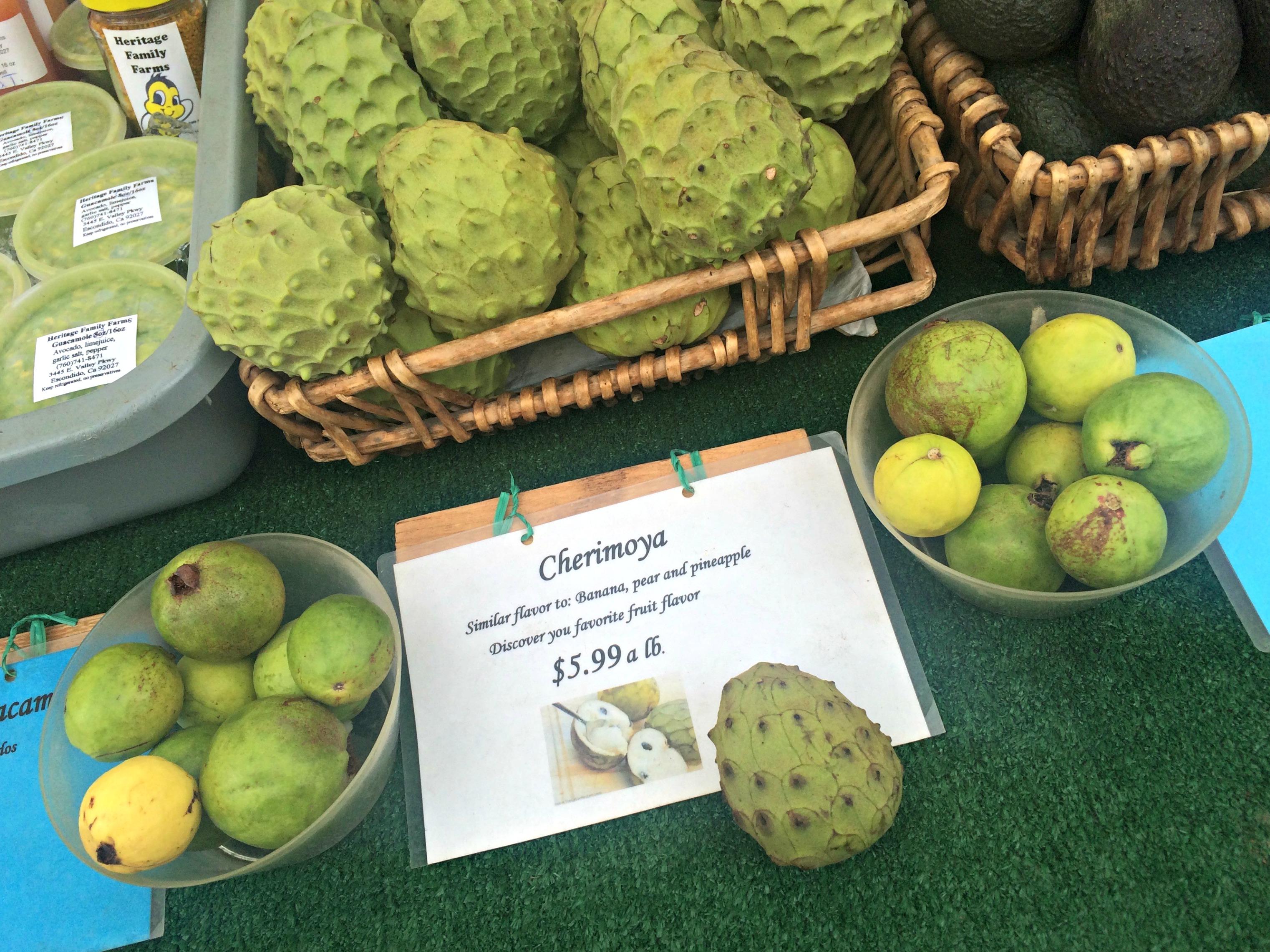 Cherimoya fruit - Little Italy Farmer's Market