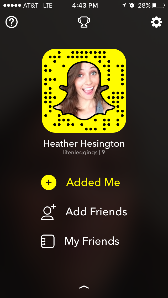 Heather - Life In Leggings Snapchat