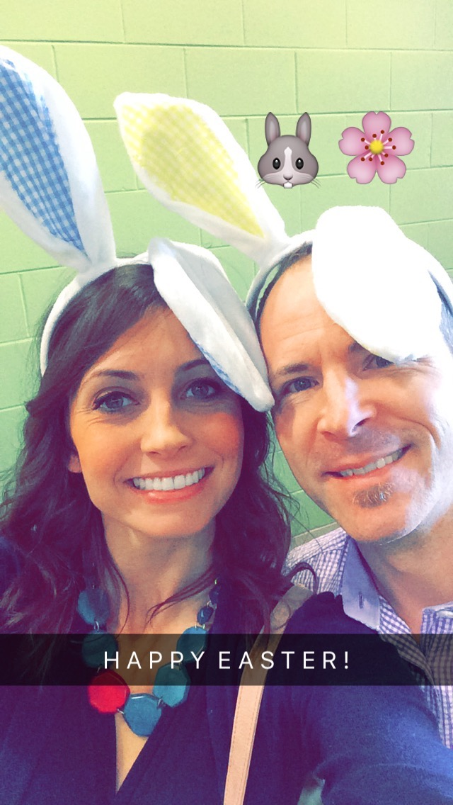 happy easter - scott and heather bunny ears