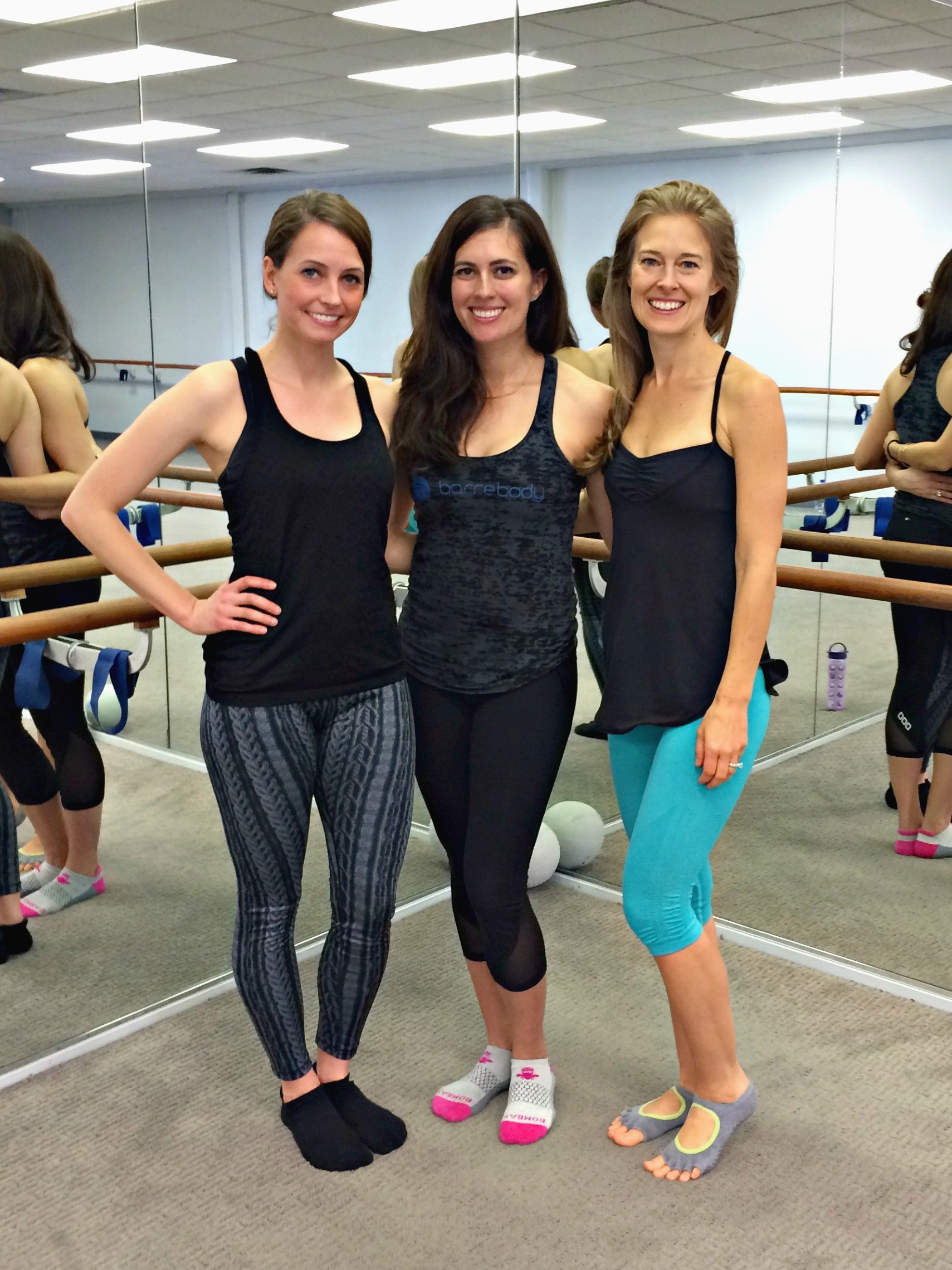barre class with gina and jess