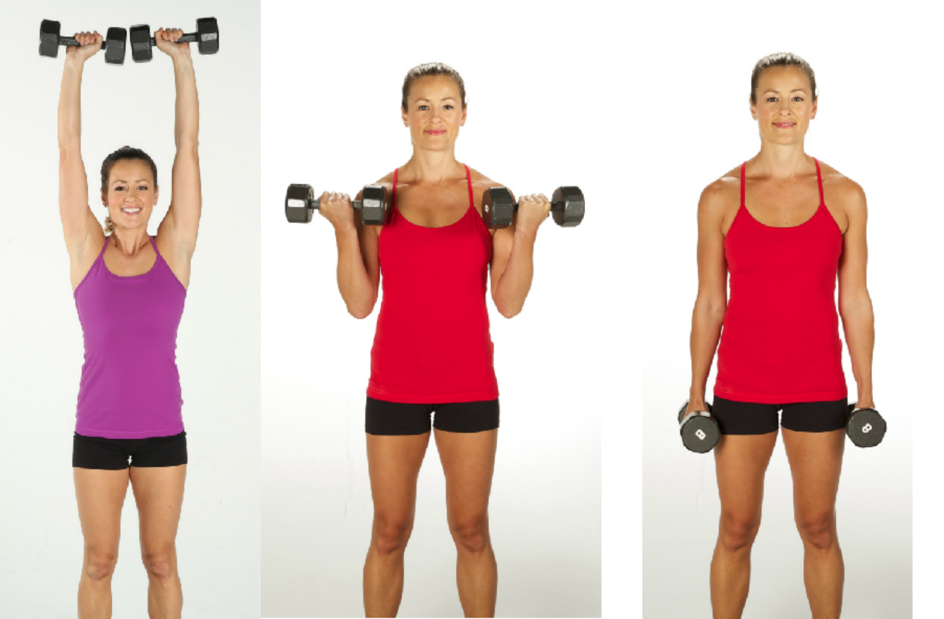 biceps curl to overhead press 2