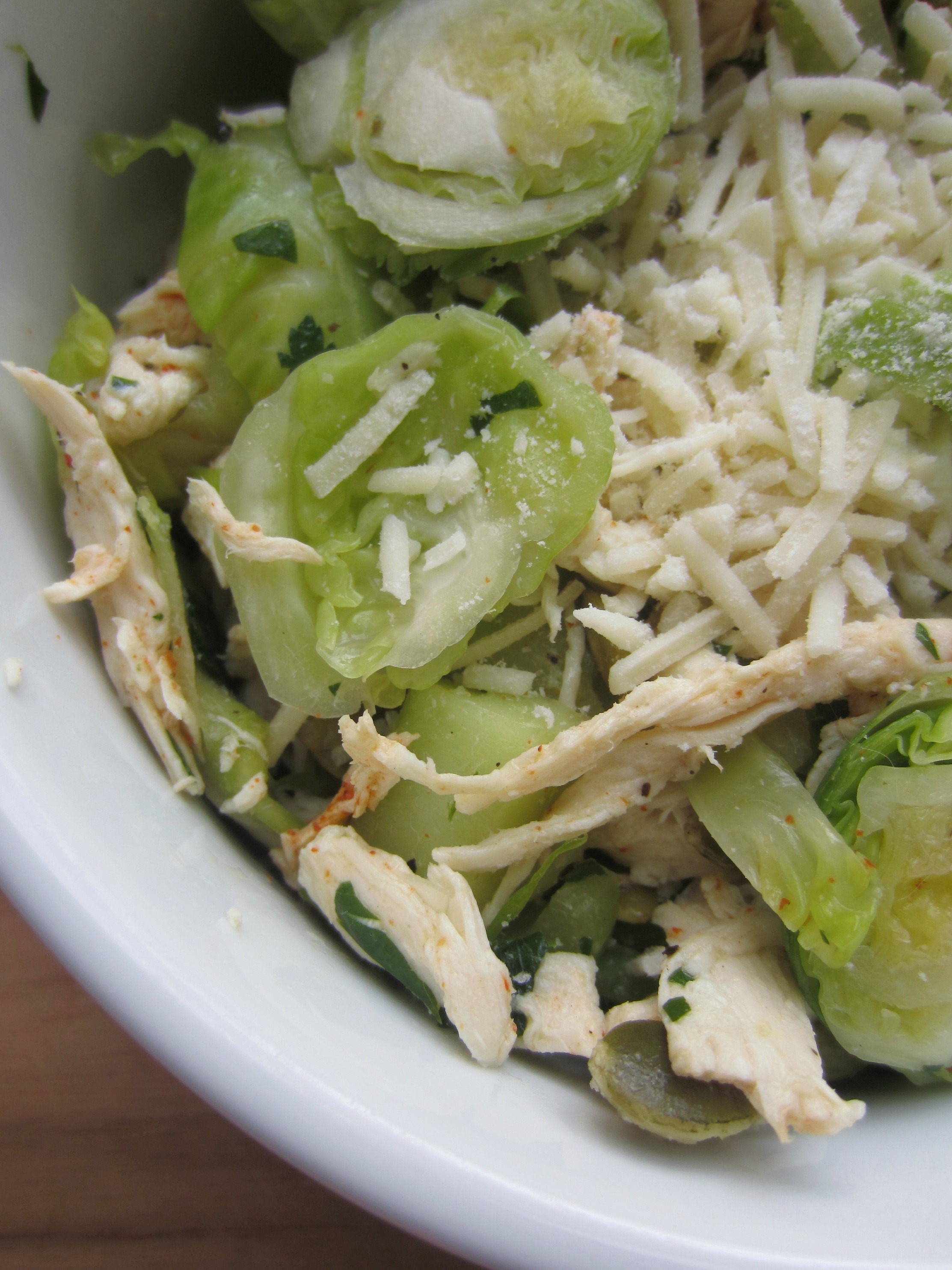 brussels sprouts and chicken salad