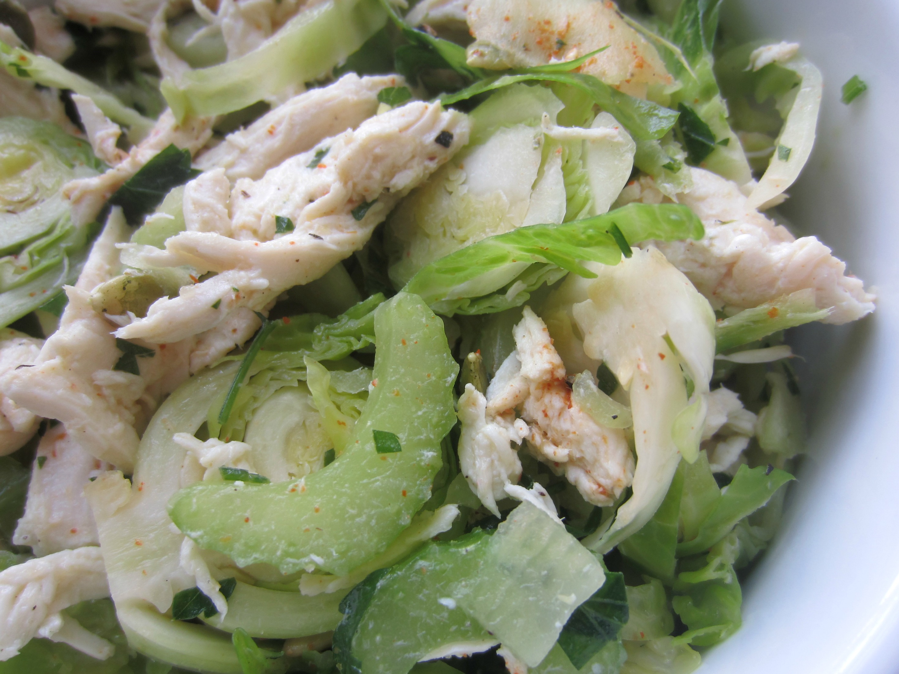 brussels sprouts with chicken salad