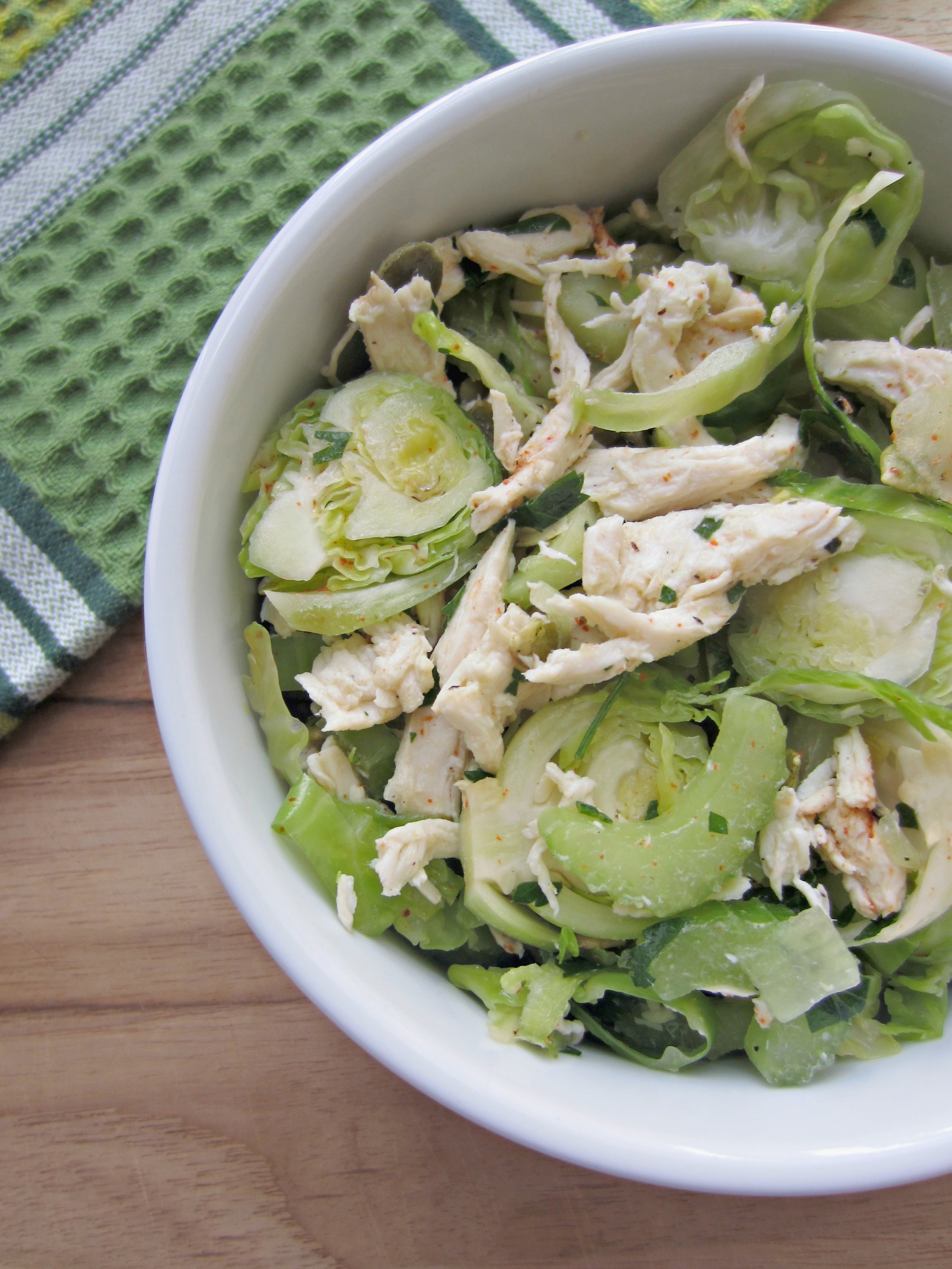 chicken brussels sprouts salad