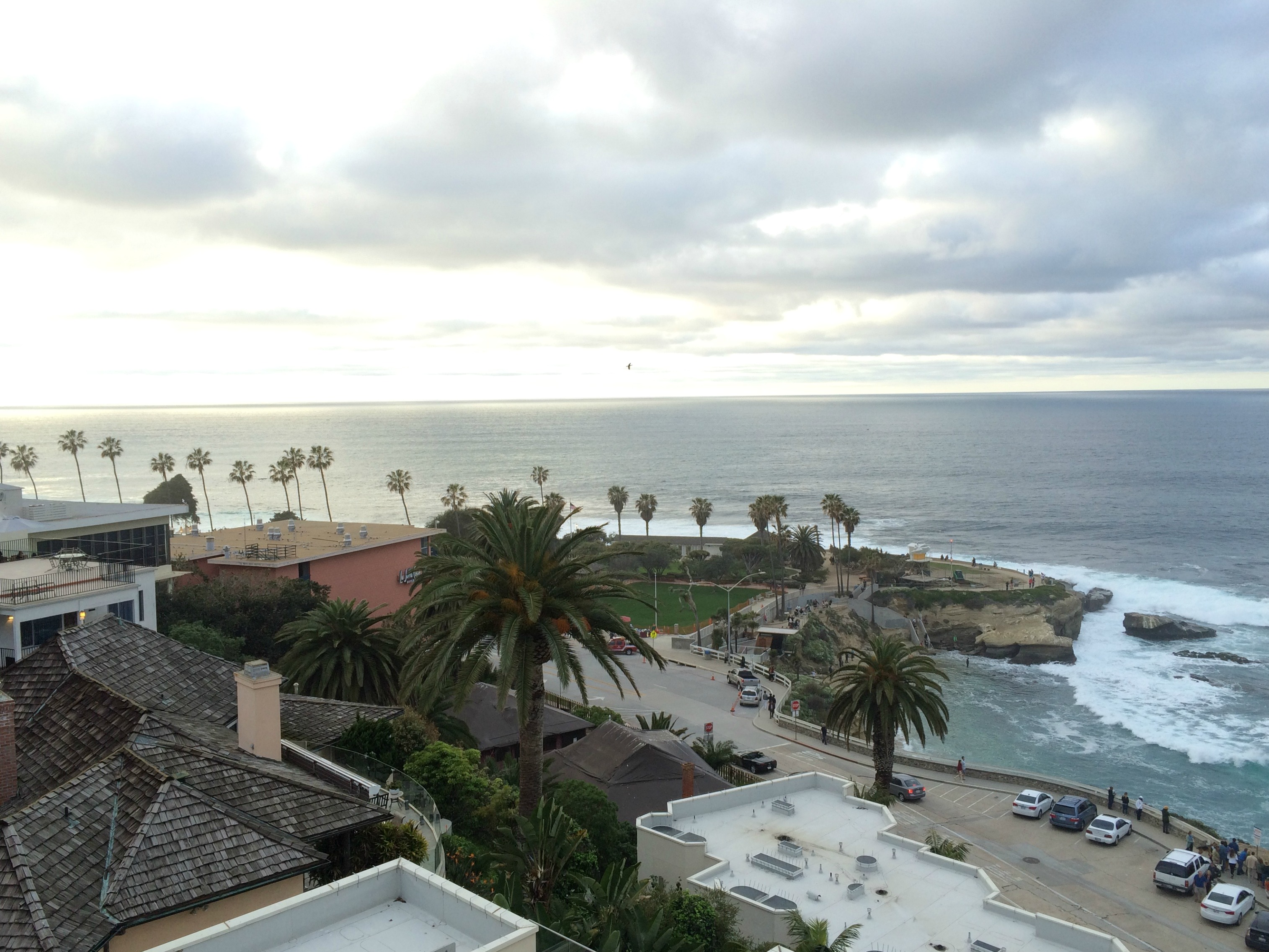 rooftop view of la jolla beach
