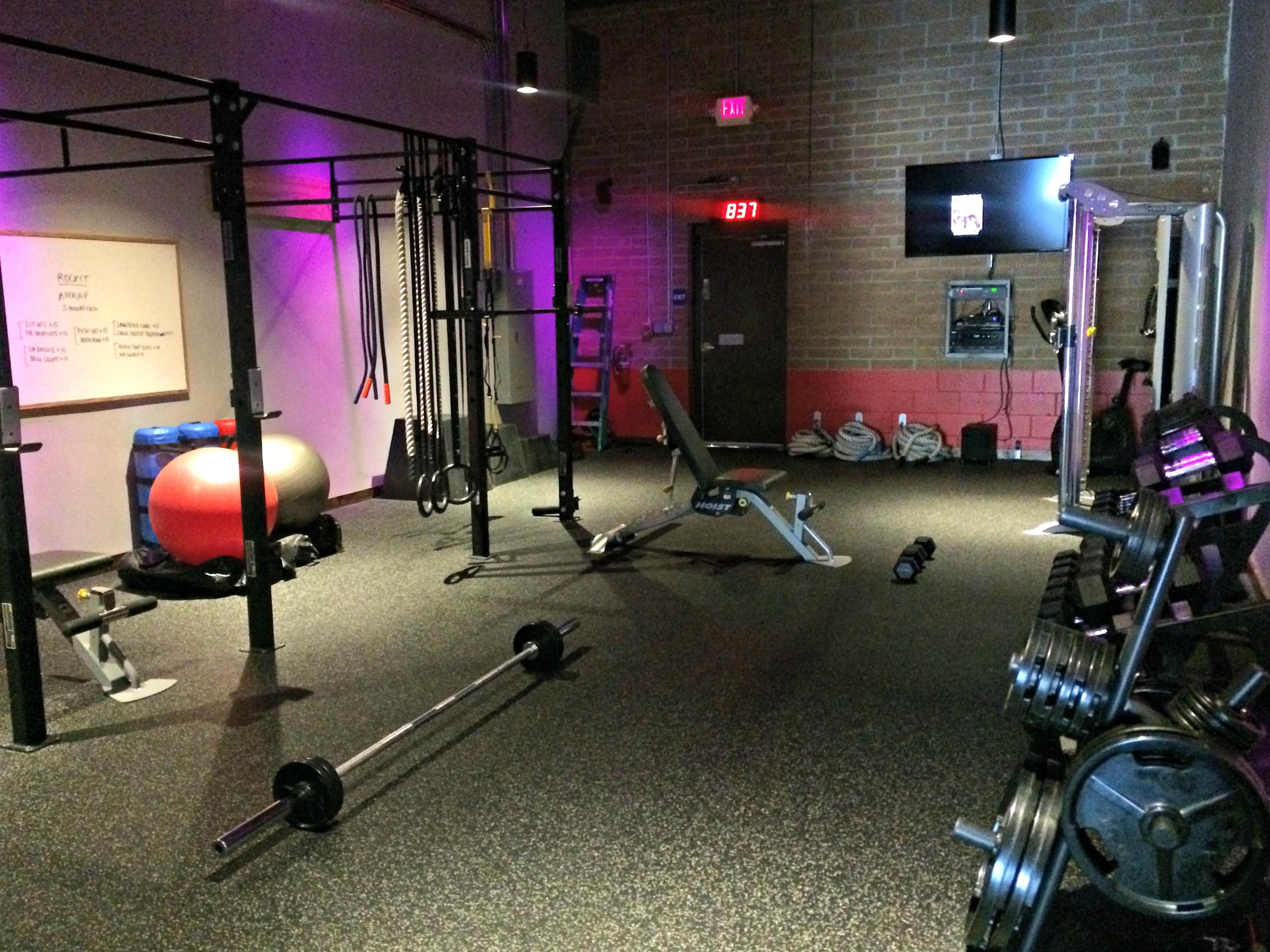 saturday morning at the gym