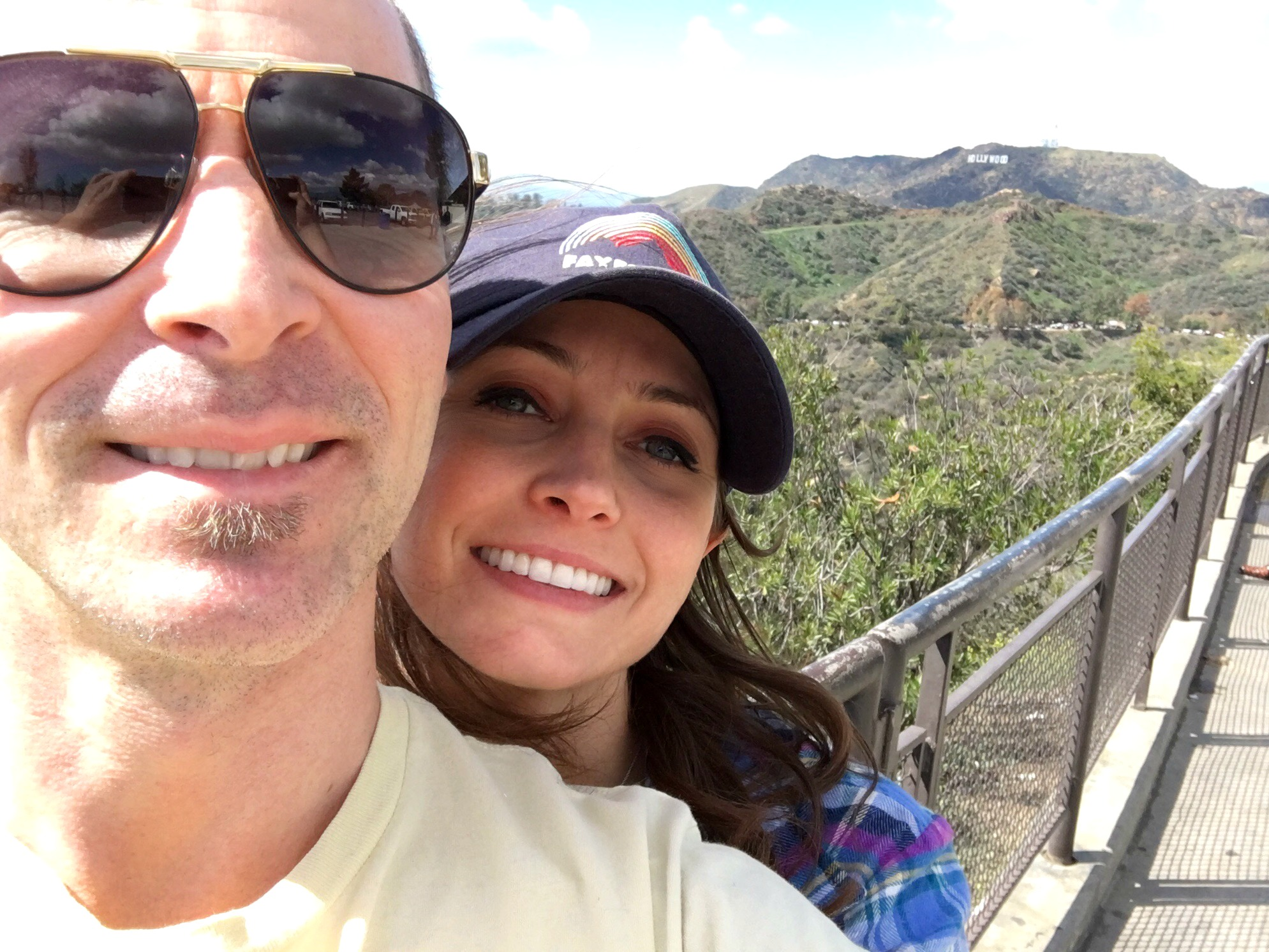 scott and heather hollywood sign