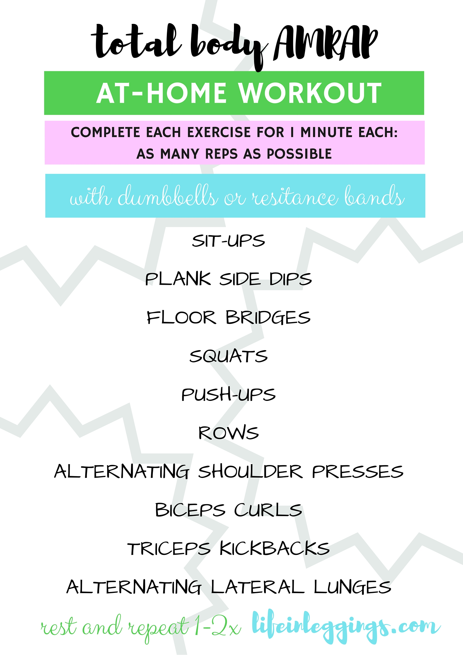 Total Body AMRAP At-Home Workout
