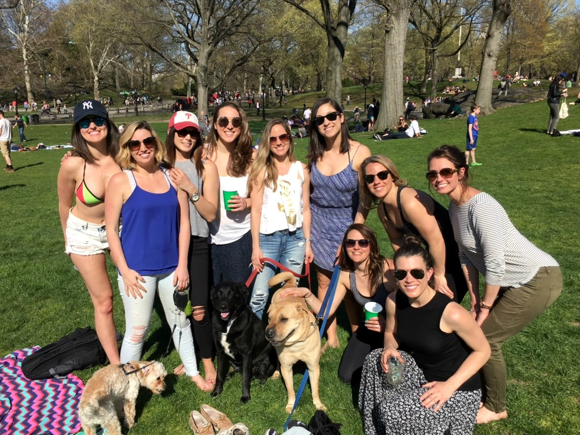 central park picnic with friends