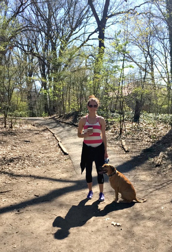 heather and roadie in prospect park