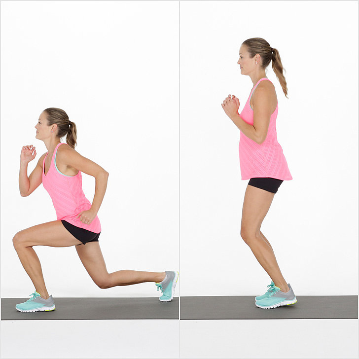 lunge hop exercise