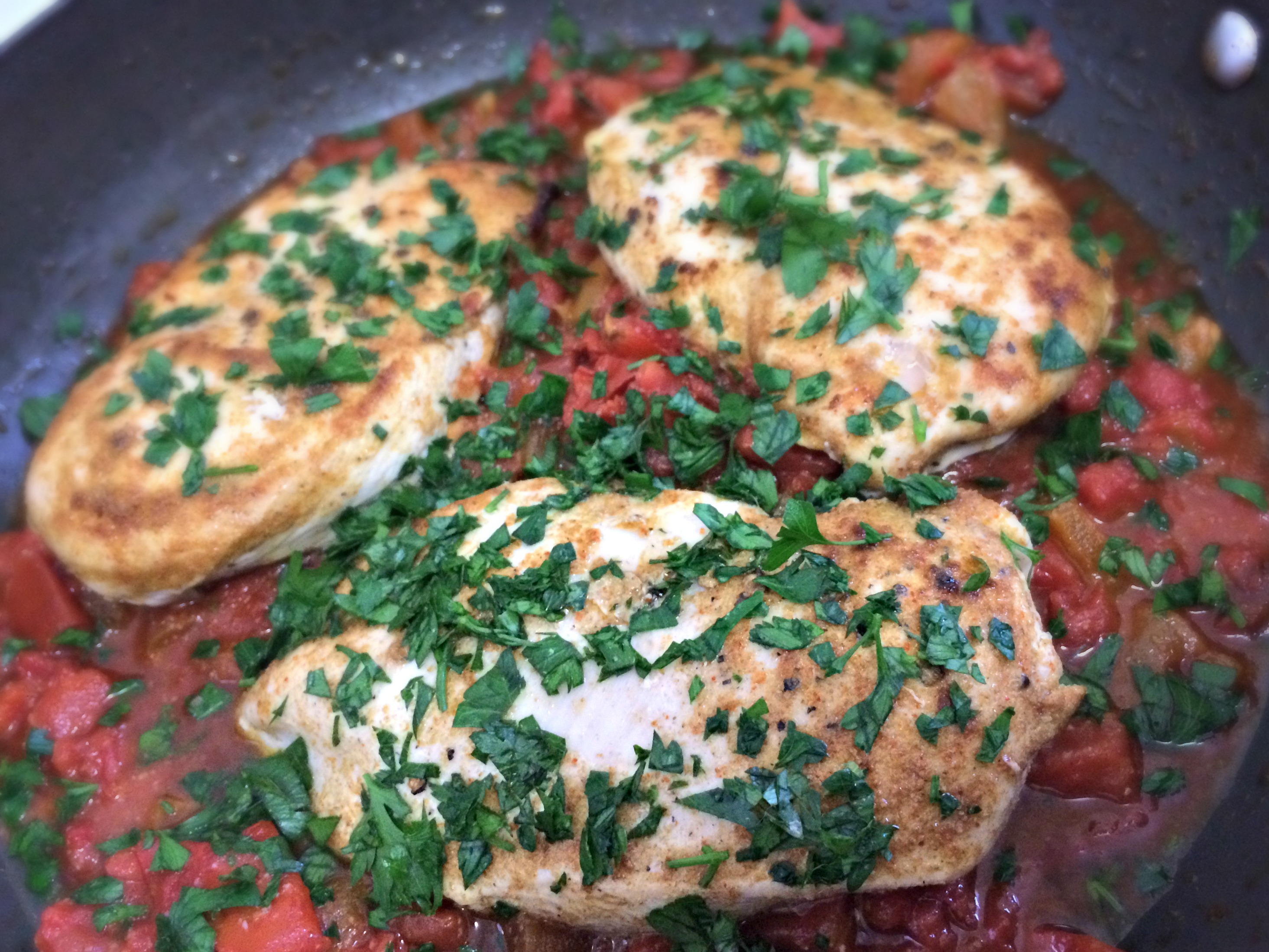 making chicken tagine