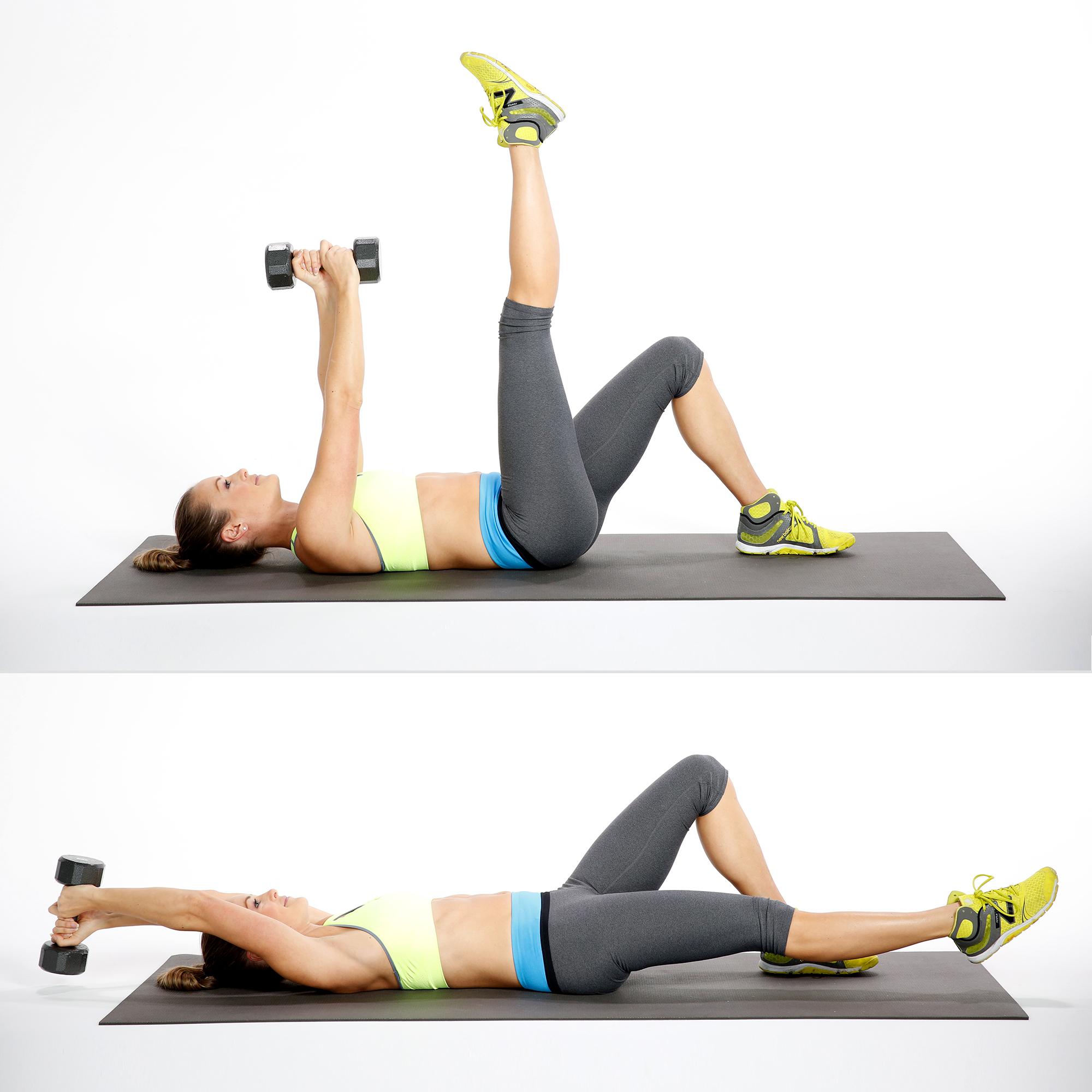 overhead reach with leg lowers
