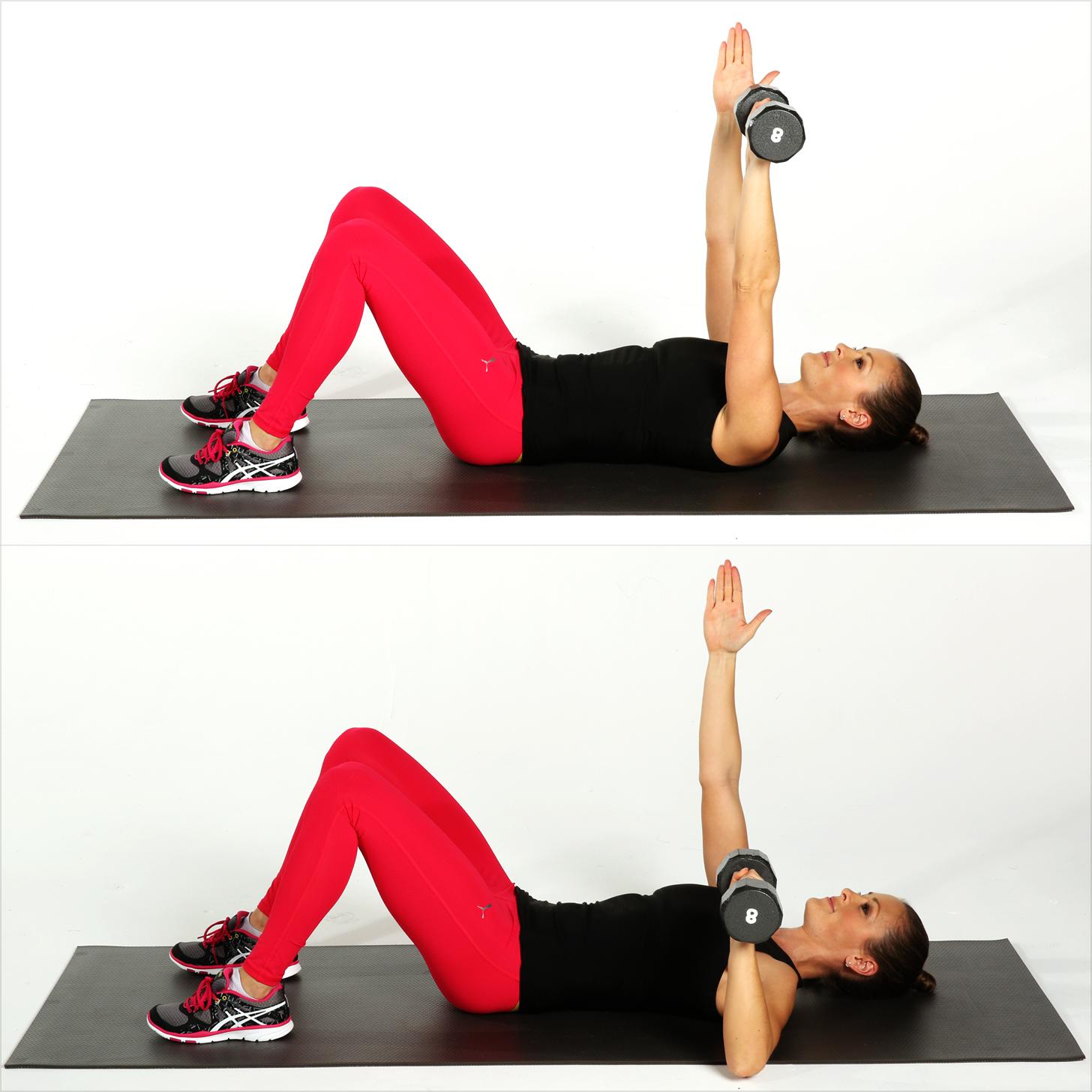 single arm chest press