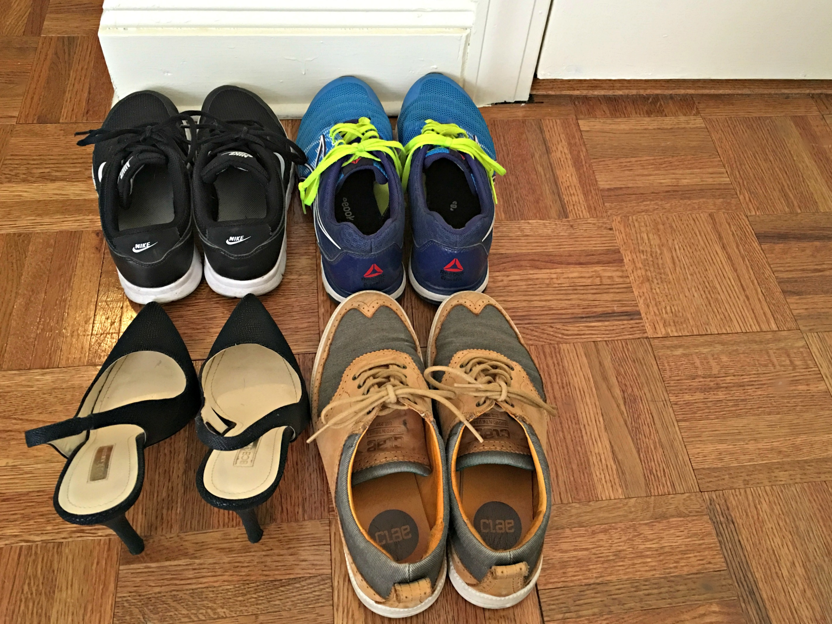 take your shoes off at the front door - cleaning tip