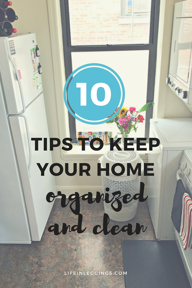 tips to keep your home organized and clean
