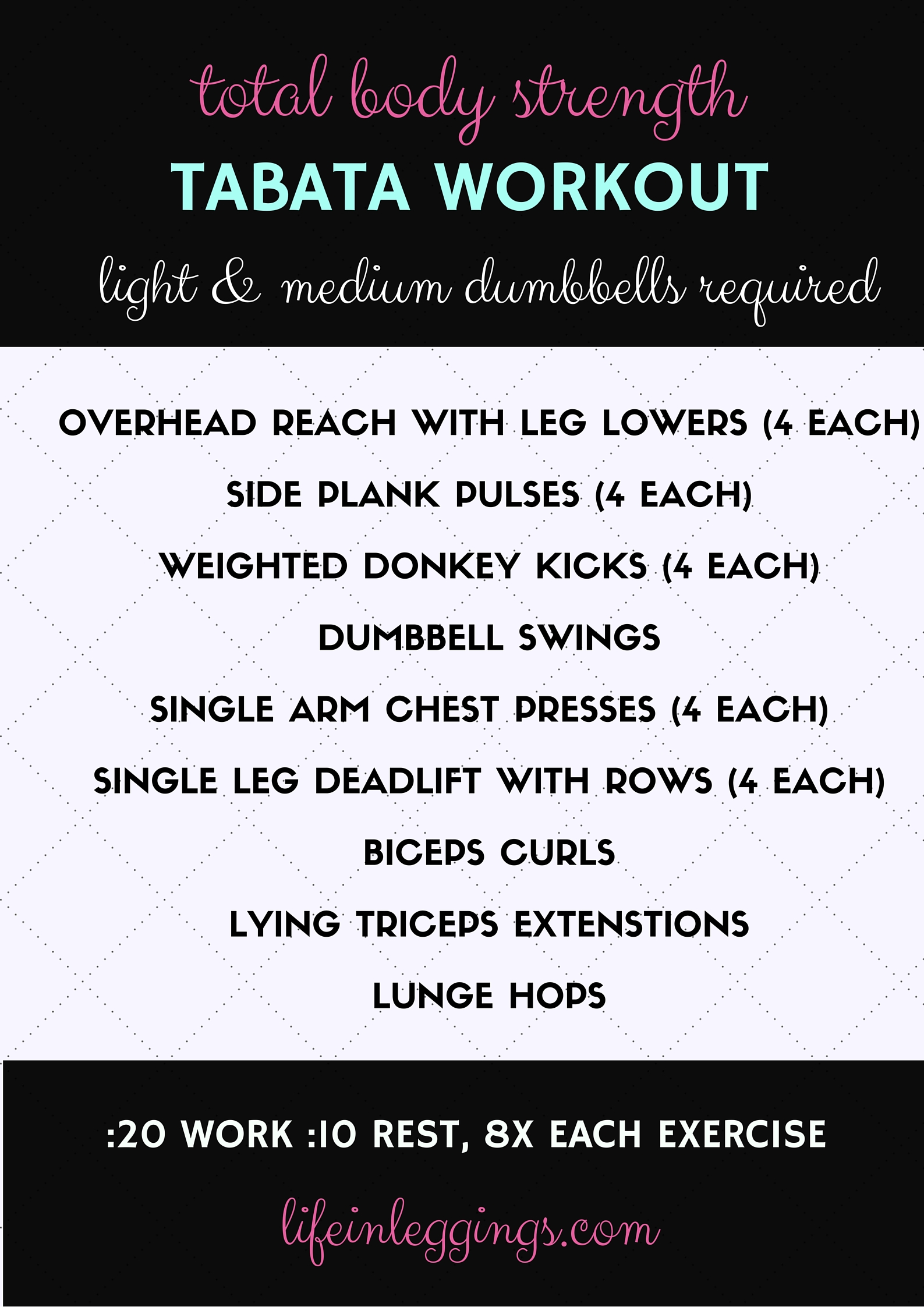 total body strength tabata workout