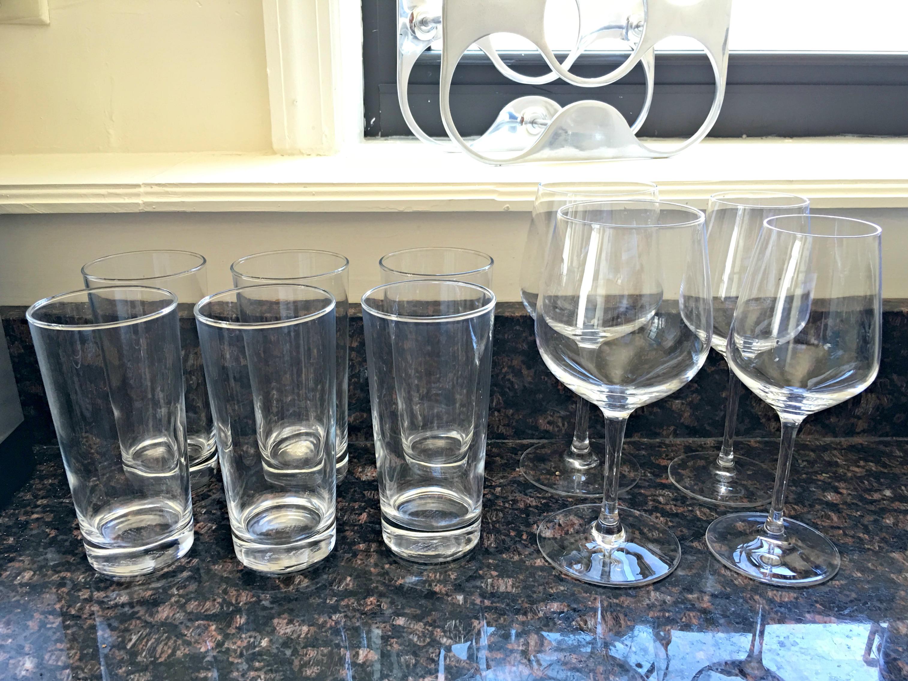 IKEA glasses and wine glasses