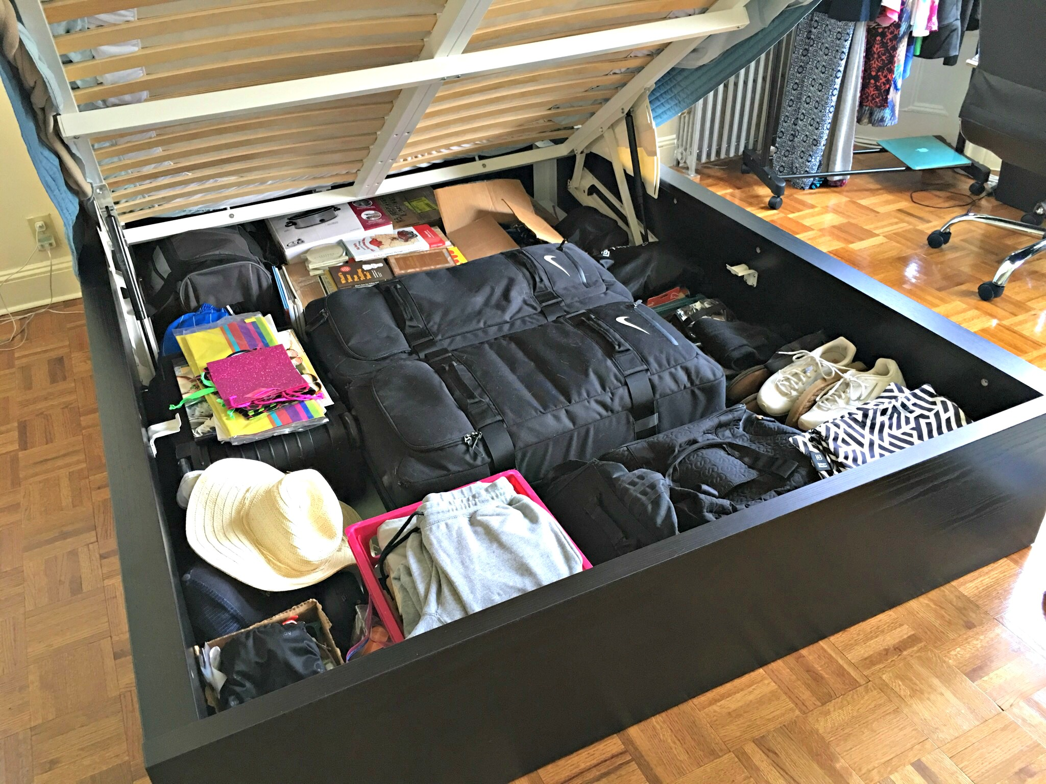 IKEA storage bed - city living