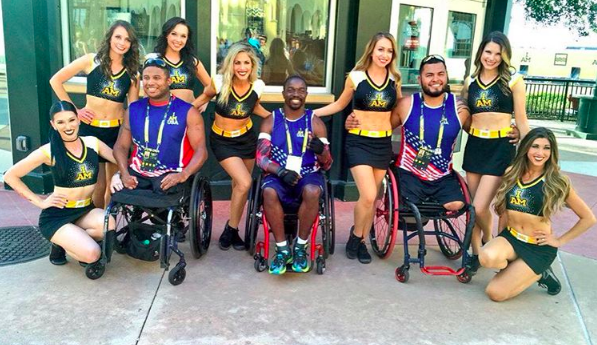 Invictus Dancers 2016 with warriors