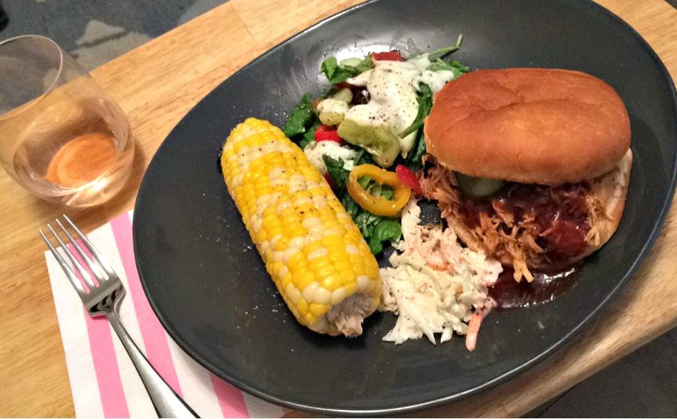 chicken barbecue dinner
