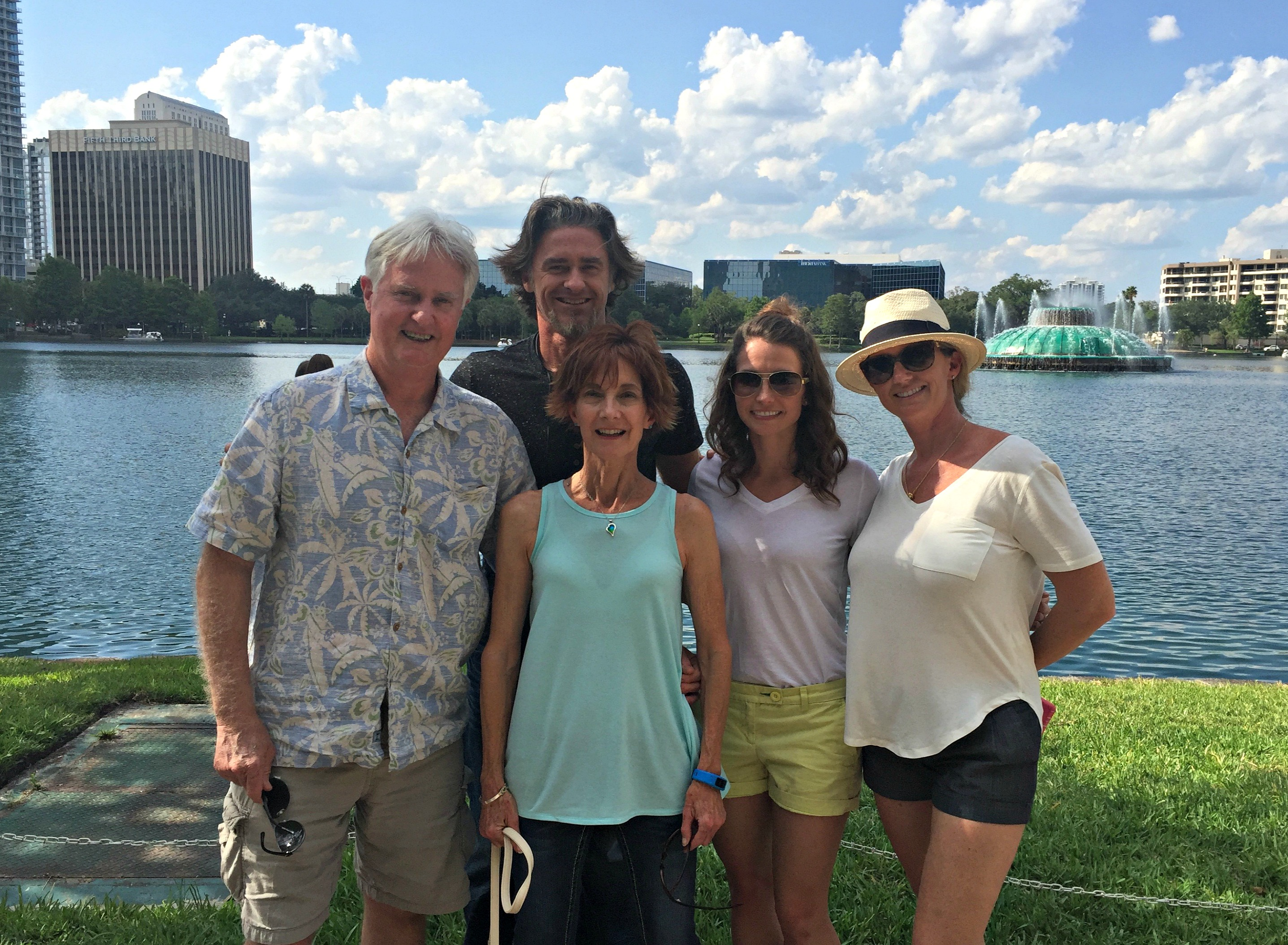 lake eola with stahl family