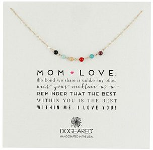 mom love dogeared necklace
