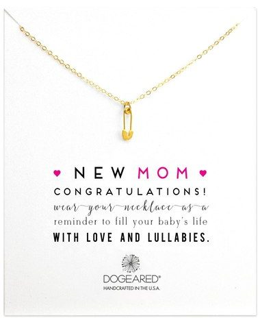 new mom dogeared necklace