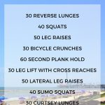 10 minute abs, booty & legs workout for summer travel