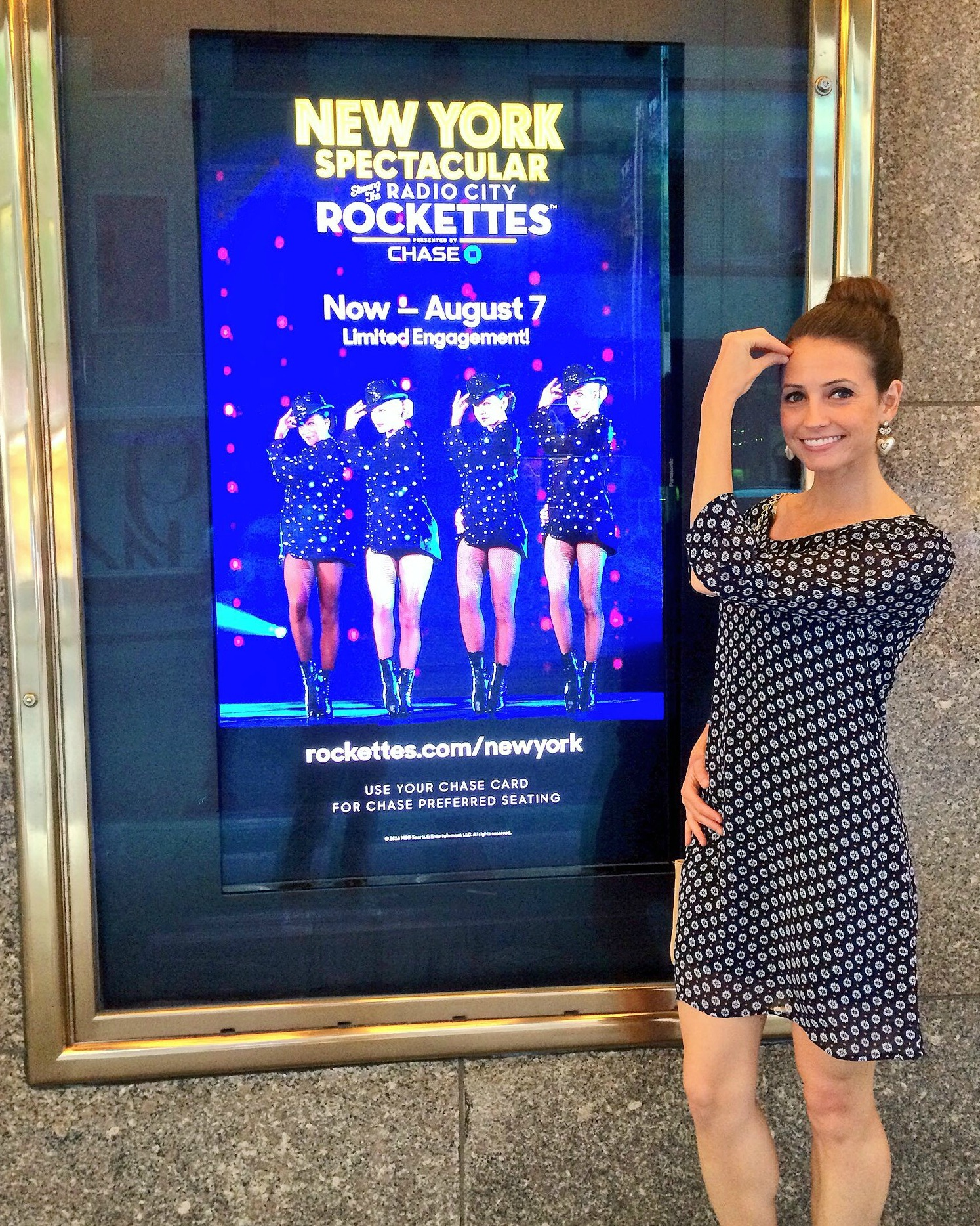Heather at Radio City Rockettes Show