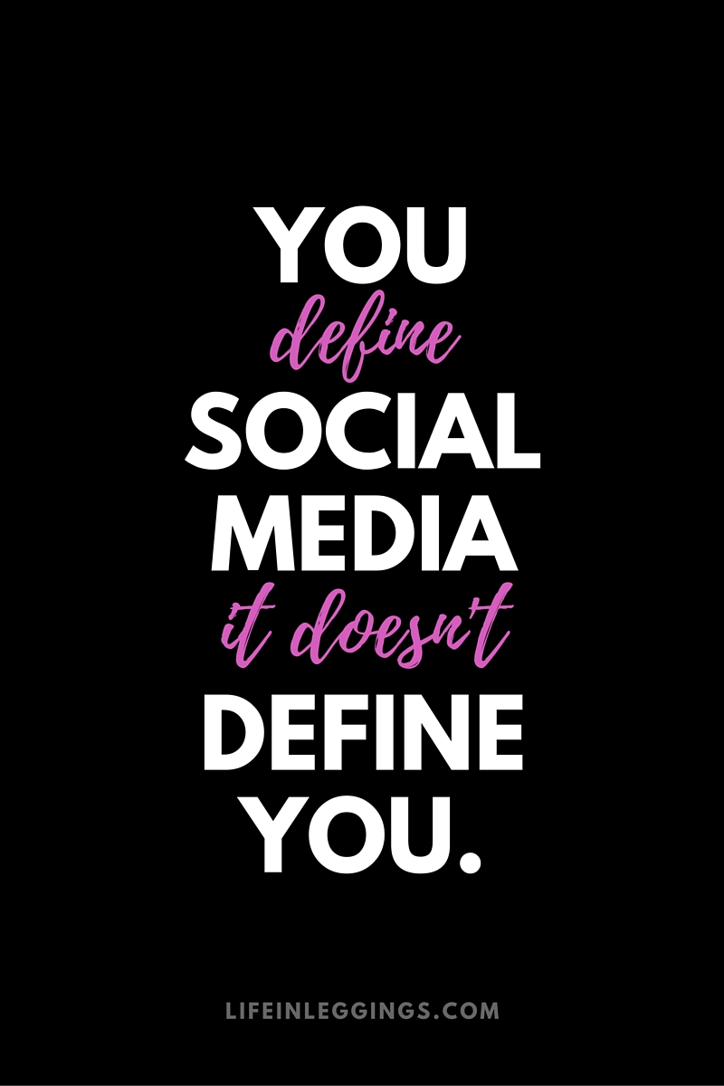 How to stop letting social media define your life.